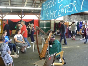 A harp player who was set up in front of my booth.  I enjoyed beautiful Celtic music all day long.
