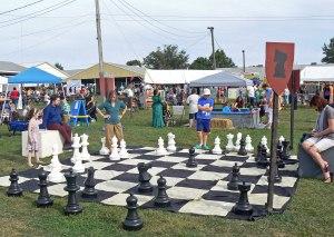 Large chess set up
